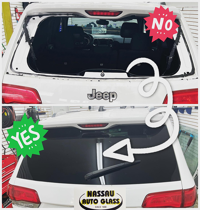 Nassau Auto Glass Services: Before & After Pic 1